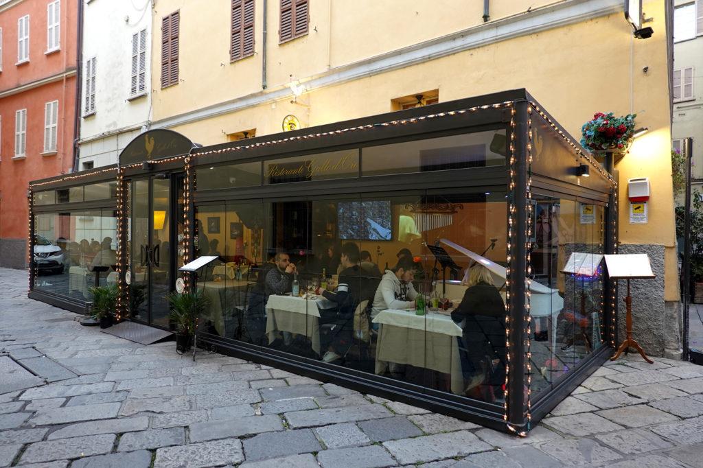 パルマの生ハムを食べるなら!庶民派トラットリアの姉妹店、リストランテ・ガッロ・ドーロ。