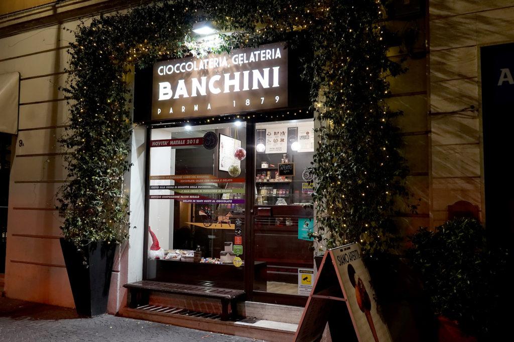 パルマの老舗チョコレート店、BANCHINI(バンキーニ)