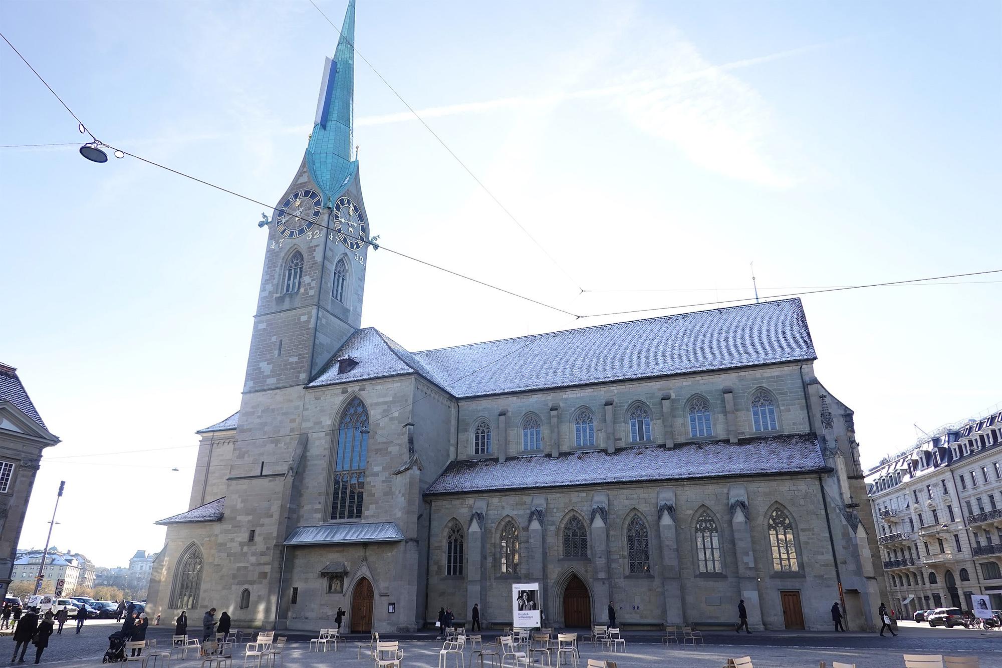 フラウエン教会(聖母教会)の外観、チューリッヒ