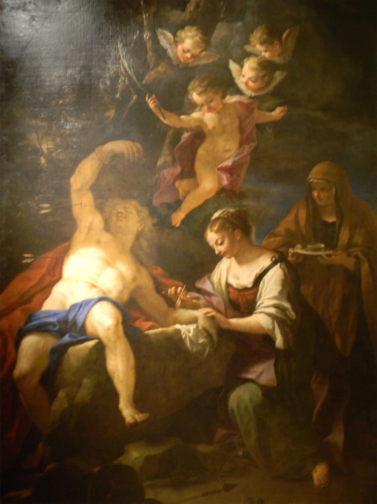 パオロ・ディ・マティス「聖イレーネに治療される聖セバスティアーノ」