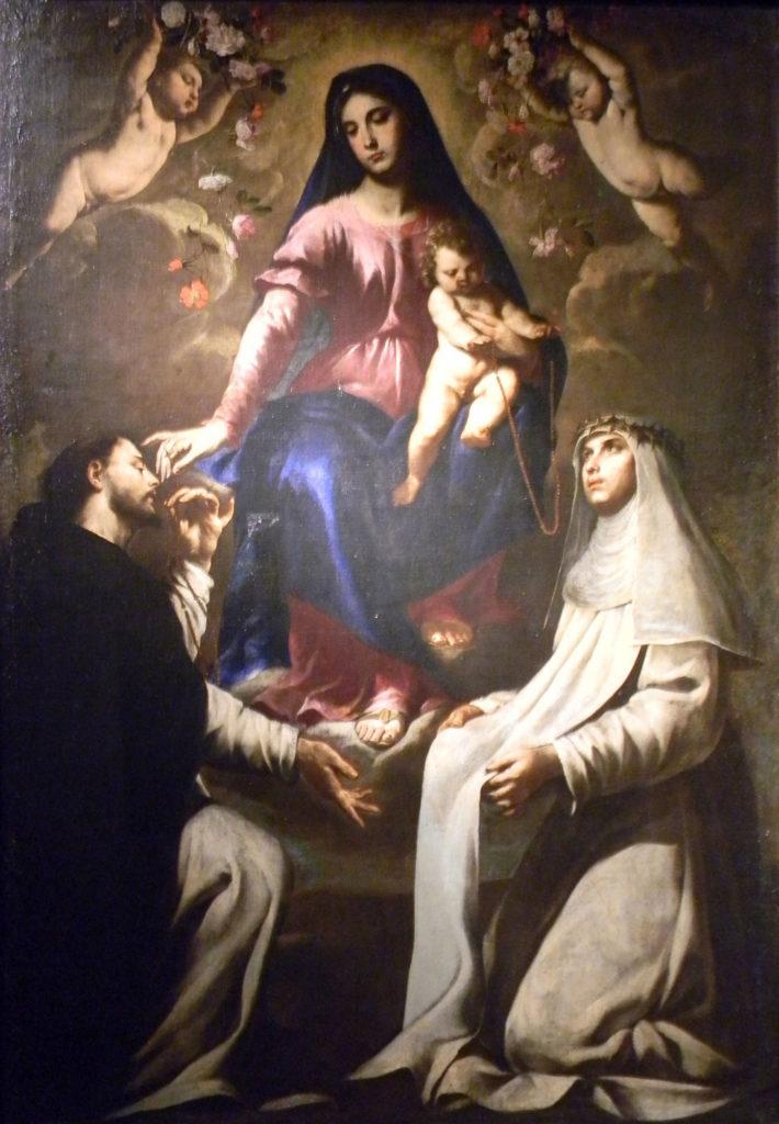 アンドレア・バッカロ「ロザリオのマドンナと聖ドメニコとカテリーナ」