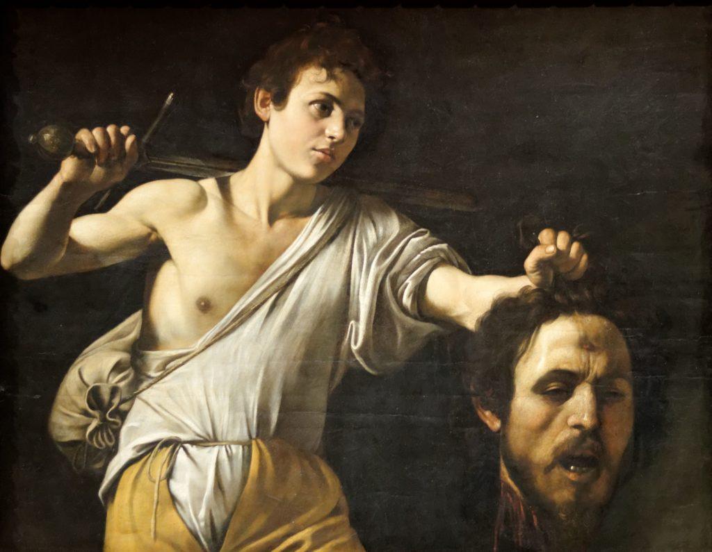 カラヴァッジョ「ゴリアテの首を持つダヴィデ」