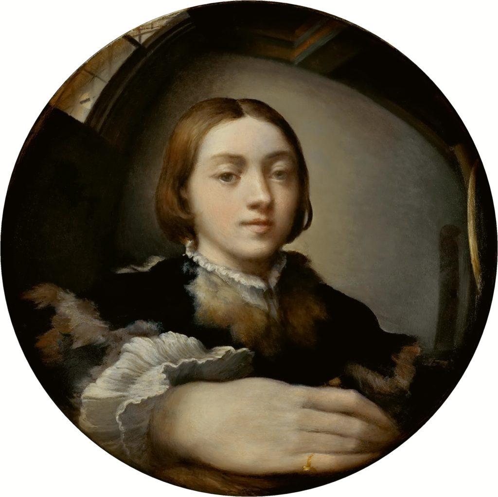 パルミジャニーノ「凸面鏡の自画像」