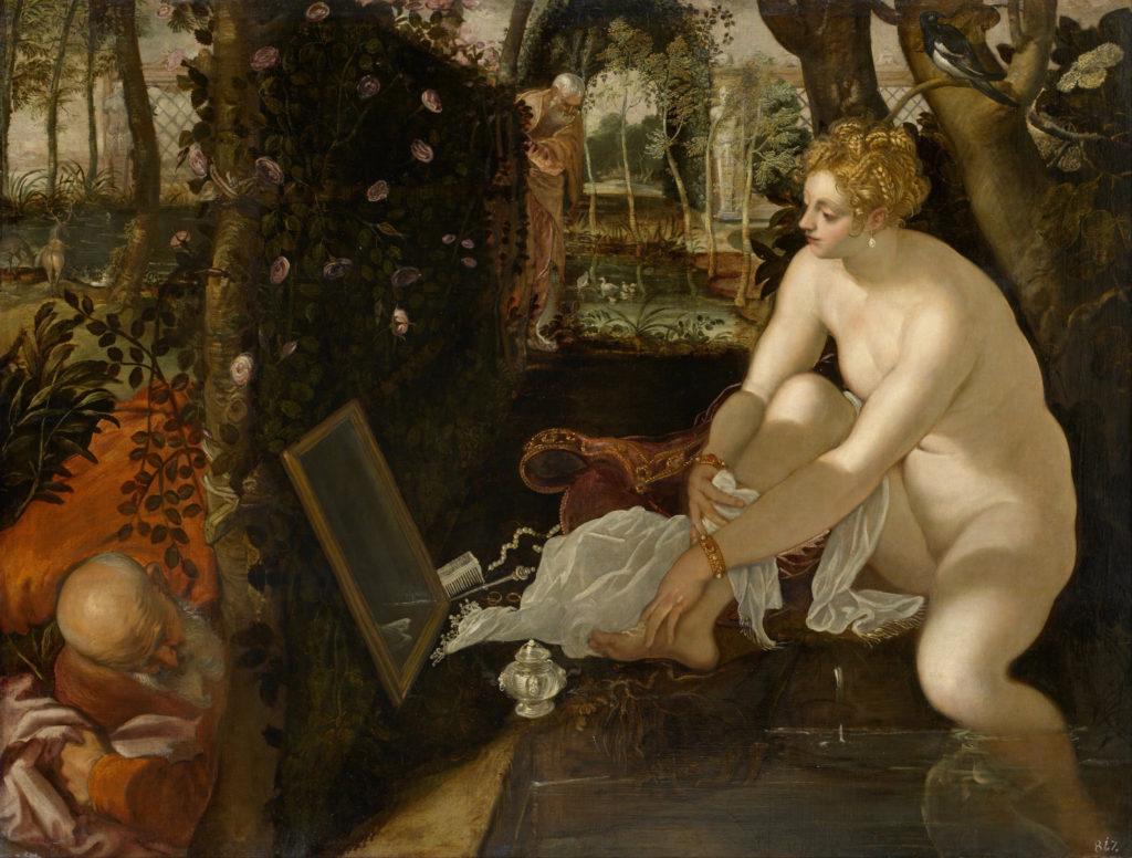 ティントレット「水浴びするスザンナ」